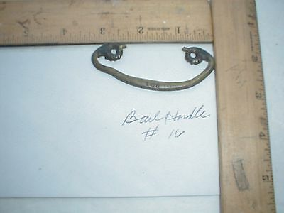 Antique Brass Drawer Pull Bail Handle Only #16  Parts Salvage