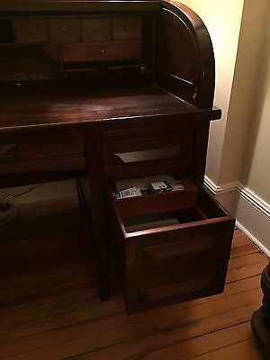 Antique 19th century Roll top desk - Mahogany