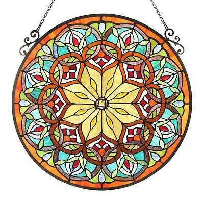 Stained Glass Panel Round Window Panels Tiffany Designs Patio Office Furniture