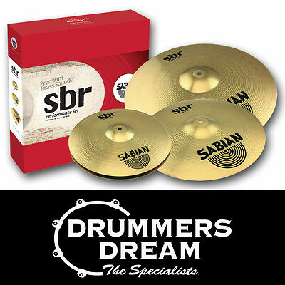 "Brand New SABIAN SBR Performance Cymbal Pack 14"" Hi Hats 16"" Crash 20"" Ride"