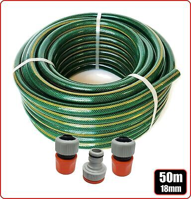 GARDEN WATERING HOSE PIPE LAWN WATER 18mm x 50m AUSTRALIAN MADE UV ESDAN FITTED