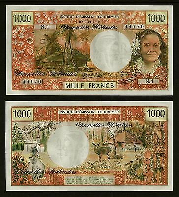 Rare New Hebrides 1000 Francs Nd(1979)  Banknote Uncirculated *best Price*