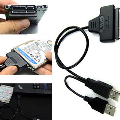 Hard Disk Drive SATA7+15 Pin 22 to USB Adapter Cable For 2.5 Laptop Intriguing