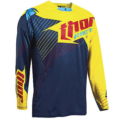 NEW Thor Mx A1 LE Core Hux Navy Yellow ADult Motocross Dirt Bike Jersey
