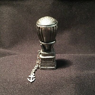 Vintage Pewter Hot Air Ballon Thimble Sewing With Anchor
