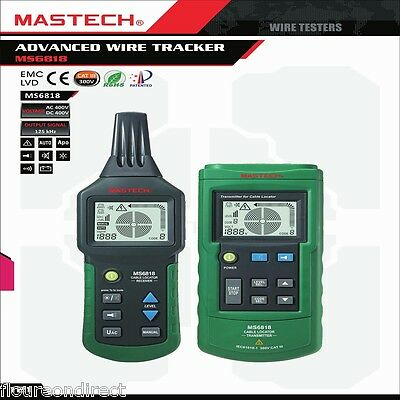 MASTECH MS6818 Underground AC/DC Wire Cable Metal Pipe Locator Detector Tracker