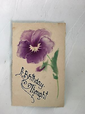 Antique/vintage - Postcard - A Birthday Thought - 1910