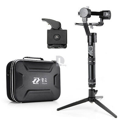 Zhiyun Crane-M 3 Axis Gimbal Stabilizer +Mini Tabletop Tripod +Cleaning kit