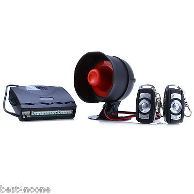 One Way Car Alarm Vehicle Security System Keyless Entry Siren Remote Control