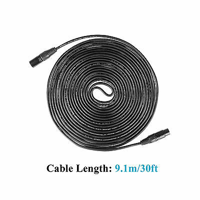 30ft/9m 3-Pin DMX Cable Stage Light Male / Female Shielded XLR Connecter Wire