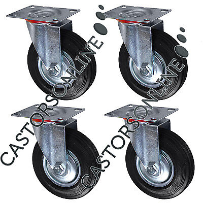 "Industrial Heavy Duty Swivel Castors, 4-Pack (125MM/5"")"