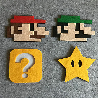 New felt Super Mario Bros Cup Drinks Holder coffee Mat Tableware Placemat