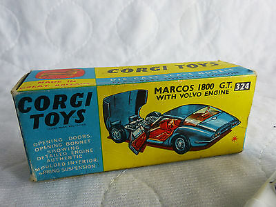 Corgi Toys 324 Macross 1800 GT with Volvo Engine  in Box - NOS