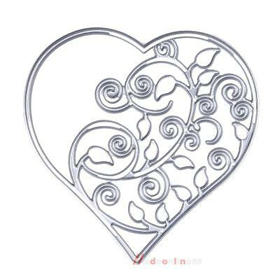 Hollow Out Heart Metal Embossing Cutting Dies Stencil for DIY Scrapbooking Card
