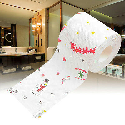 Snowman Toilet Paper 2 Ply 240 Sheet Funny Sled Christmas Gift Table Room Decor