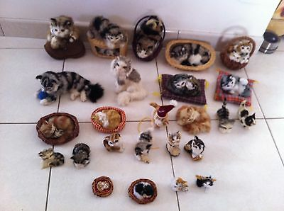 Lot De 25 Chats De Collection En Fausse Fourrure