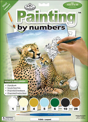 """Junior Small Paint By Number Kit 8.75""""X11.75"""" Leopard PJS43"""
