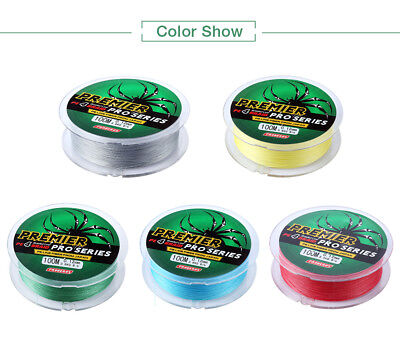 PROBEROS 100M Durable Colorful PE 4 Strands Braided Fishing Line Angling Parts