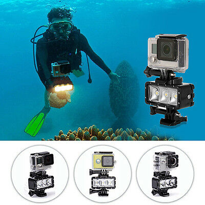 Waterproof High Power LED Rechargeable Diving Video Light for Gopro Deft