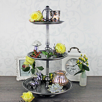 etagere silber weihanchten metall 53 cm stern vintage shabby stil deko eur 39 90 picclick de. Black Bedroom Furniture Sets. Home Design Ideas