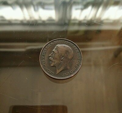George V 1912H Penny collectable coin, good condition.
