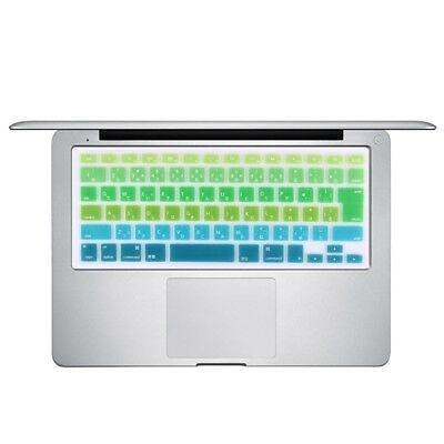 ELETTRONICA 5 PCS Gradient Color Apple Laptop Silicone Keyboard Protector Prote