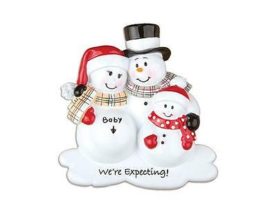 We're Expecting Snowman Couple W/ One Child - Personalized Free - So Popular!!