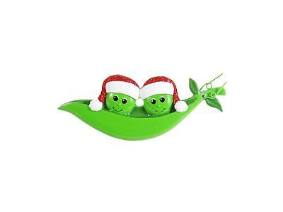 Two Peas In A Pod Ornament - Personalized Free! Popular!