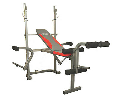Banc De Musculation Ls7838 Hms Repose-Barre Support Halteres Exercice Gym Fit