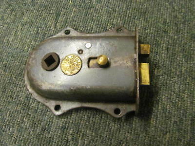 Vintage reclaimed rim latch -stripped of paint - in good working order -RL163-