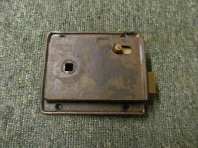 Vintage reclaimed rim latch -stripped of paint - in good working order -RL165-