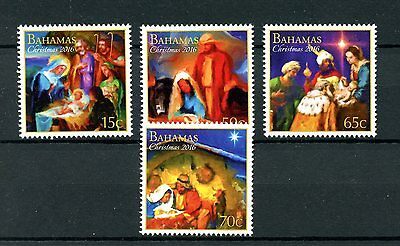 Bahamas 2016 MNH Christmas 4v Set Nativity Baby Jesus Mary Stamps