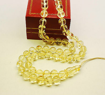 Genuine Baltic Amber 45 Round 9 mm Balls Islam Prayer Beads Misbaha Tasbih