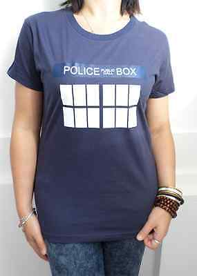 Doctor Who TARDIS police box design Women's T-shirt for Dr. Who fans