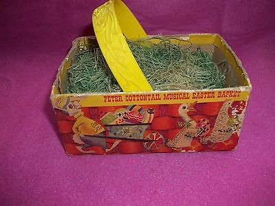 1950 Peter Cottontail Musical Easter Basket Not Working
