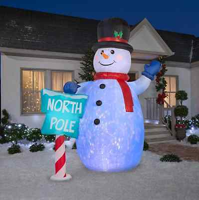 Christmas Outdoor Yard Decoration LED Lights Inflatable Snowman Airblown Decor