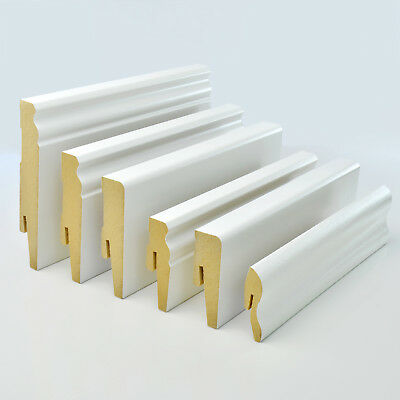 2.5m WHITE MDF SKIRTING BOARD & ACCESSORIES simple installation floor wall new