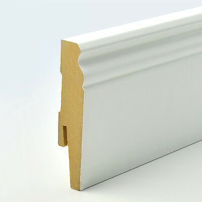 2.5m 15x90mm D-PROFILE MDF SKIRTING BOARD edging scotia trim cover hamburger new