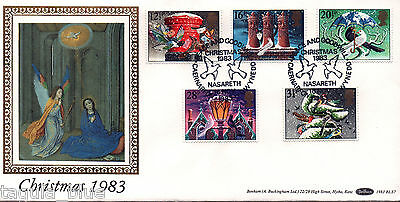 """GB Stamps 1983 """"Christmas"""" First Day Cover - PEACE & GOODWILL NASARETH h/s"""