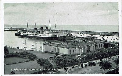 Postcard of Harbour & Promenade Dun Laoghaire - used 1948
