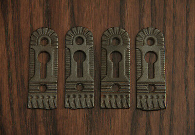 Victorian Cast Iron Door Escutcheons by Trenton - Hardware-1880's.
