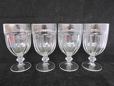 LIBBEY Duratuff 16oz Gibraltar Clear Water Goblets Set of 4 MADE IN USA