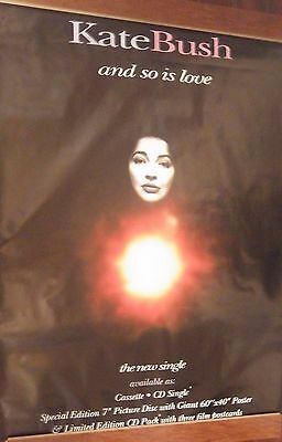"40x60"" HUGE SUBWAY POSTER~Kate Bush 1993 And So Is Love Red Shoes Original NOS~"