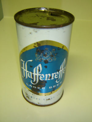 Old Thick Steel Haffenreffer Lager Permit #1 Rare Flat Top Beer Can