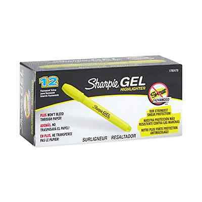 Sharpie Gel Highlighter Bullet Tip Fluorescent Yellow Dozen 1780478
