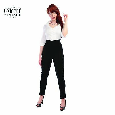 Collectif Ladies Quality Vintage Hayworth Trousers 1950's Rockabilly Clothing