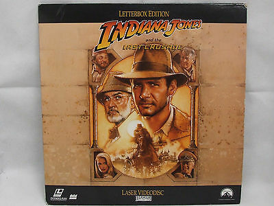 INDIANA JONES AND THE LAST CRUSADE  Laser Disc Film - PAL -FREE POSTAGE!