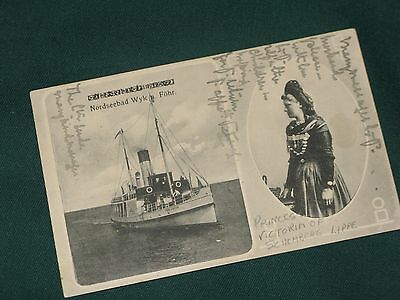 Royalty signed postcard Princess Victoria Schaumburg-Lippe Queen V's g'daughter