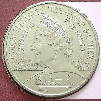 2000 £5 Crown Pack Elizabeth Queen Mother Brilliantly Uncircualted 5 Five Pounds