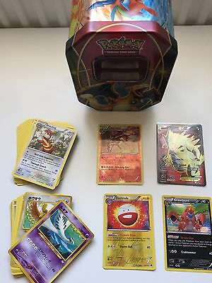 Pokemon Card Bundle Including Tin And Ex/full Art/ Lv.x, Holos !! Rare!!